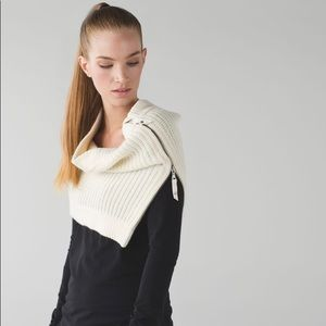 Lululemon Falling Freely Merino Wool Knit Scarf